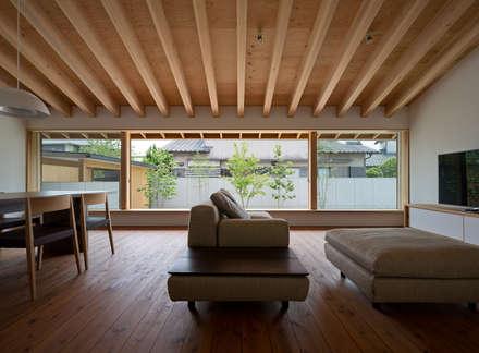 佐賀高木瀬の家: ヨシタケ ケンジ建築事務所が手掛けたリビングです。