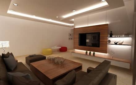 Living Room: Modern Living Room By A Design Studio