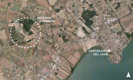 Castiglione del Lago Pg: Giardino anteriore in stile  di Morelli & Ruggeri Architetti