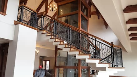Spiral Staircase Laser Cut Balustrading:  Stairs by Ciber Steel Worx (PTY) LTD