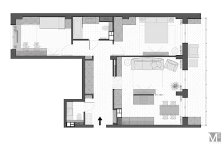Проект CONTEMP: Полы в . Автор – M5 studio