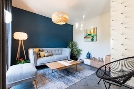 Nouvel intérieur pour une villa gardoise: Salon de style de style Scandinave par Kty.L Décoratrice d'intérieur UFDI