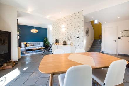 Nouvel intérieur pour une villa gardoise: Salle à manger de style de style Scandinave par Kty.L Décoratrice d'intérieur UFDI