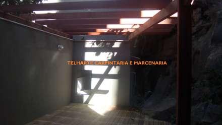 TELHARTE CARPINTARIA E MARCENARIA의  실내 정원
