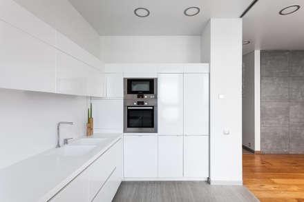 Современная квартира в Москве: Кухонные блоки в . Автор – artzona.ru