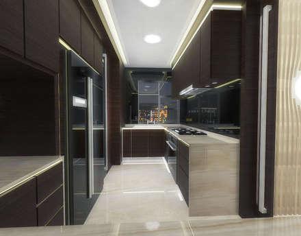 Half & Half Circle Residenence: modern Kitchen by TheeAe Architects
