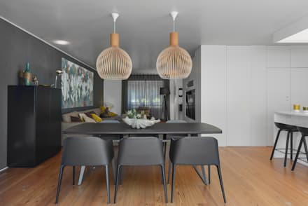 Juno's House: minimalistic Dining room by Mónica Parreira Design Interiores