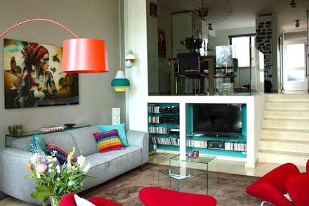Interieurplan woonkamer in Leiden: eclectische Woonkamer door Regina Dijkstra Design
