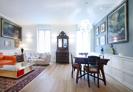 Antico & Contemporaneo: Sala da pranzo in stile in stile Eclettico di Filippo Colombetti, Architetto