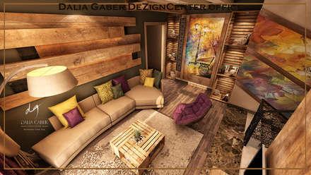 by Dalia Gaber ,Modern livingroom :  غرفة المعيشة تنفيذ DeZign center office by Dalia Gaber
