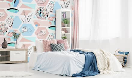 PASTEL EASTER: scandinavian Bedroom by Pixers
