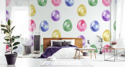 EASTER EGGS: scandinavian Bedroom by Pixers