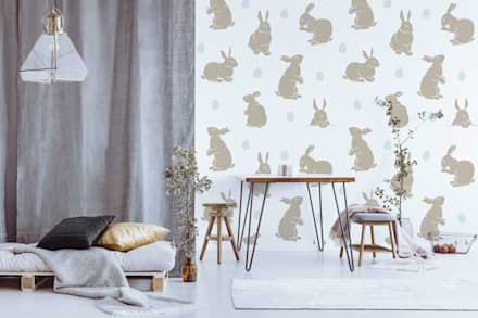 EASTER EGGS HUNTING: scandinavian Living room by Pixers