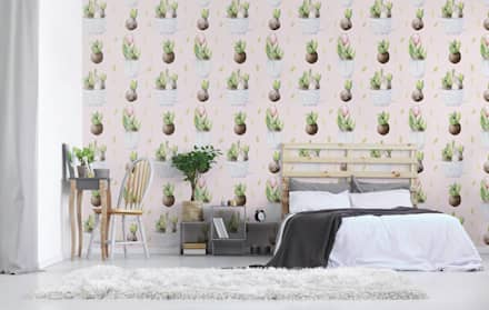 EASTER TULIPS: scandinavian Bedroom by Pixers