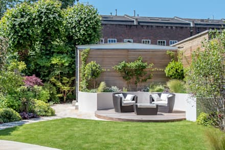 A South Facing Contemporary Family Garden: Modern Garden By Kate Eyre Garden  Design