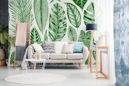 ALL ABOUT LEAVES: scandinavian Living room by Pixers