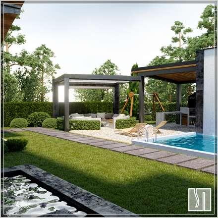 дом: Переливные бассейны в . Автор – Студия дизайна Светланы Исаевой