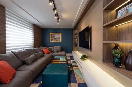 modern Media room by Espaço do Traço arquitetura