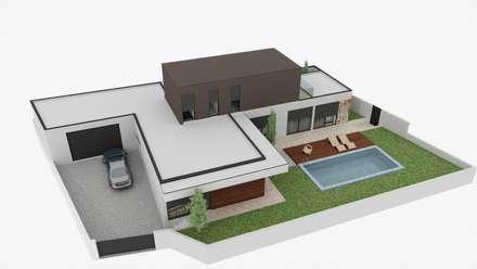 Fincas de estilo  por Fabio Pereira & João Fraga, Arquitetos