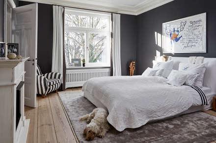 Umbau eines Stadthauses: klassische Schlafzimmer von Anja Lehne interior design