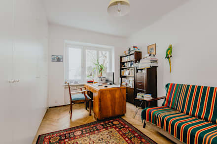 Oficinas de estilo minimalista por ZIZI STUDIO Magdalena Latos