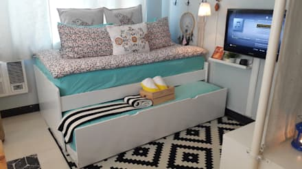 23 Sq. meter Studio Unit at Morgan Suites, Mckinley Hill : eclectic Bedroom by IE + ACGA Designs