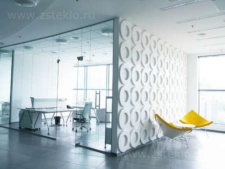 Стеклянные перегородки: Стены в . Автор – Zстекло