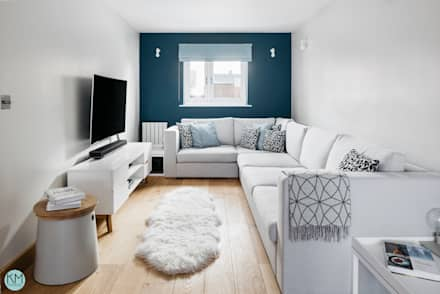 Scandinavian style lounge: scandinavian Living room by Katie Malik Interiors