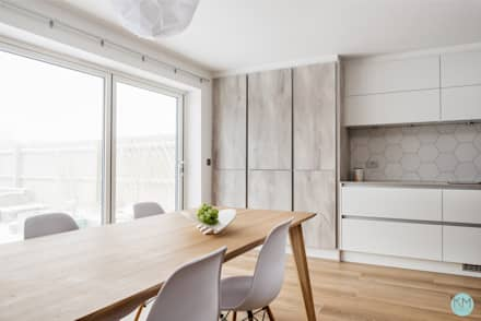 Scandinavian style kitchen and dining: scandinavian Kitchen by Katie Malik Interiors