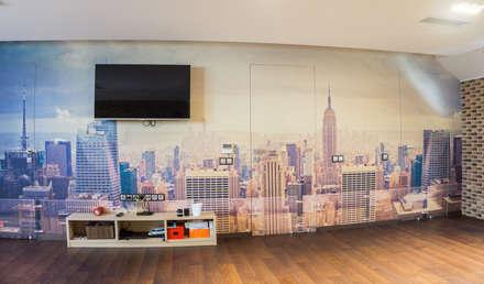 غرفة نوم مراهقين  تنفيذ Архитектурная мастерская Leto