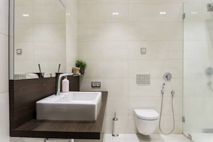 Тихая гавань: Ванные комнаты в . Автор – Архитектурная мастерская Leto