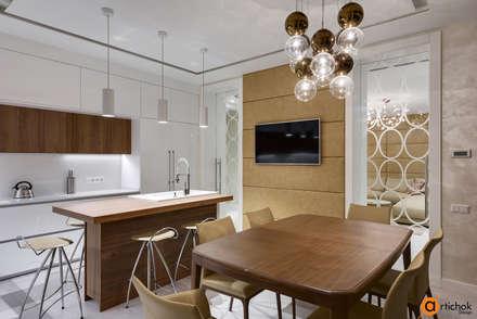 Оригинальное освещение кухни: Кухонные блоки в . Автор – Art-i-Chok