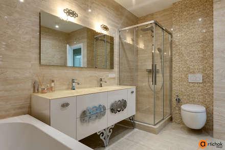 Дизайн интерьера ванной в песочных тонах: Ванные комнаты в . Автор – Art-i-Chok