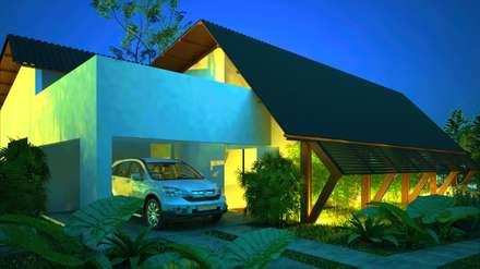 Casas de madera de estilo  por DECEM ARQUITETURA E PLANEJAMENTO