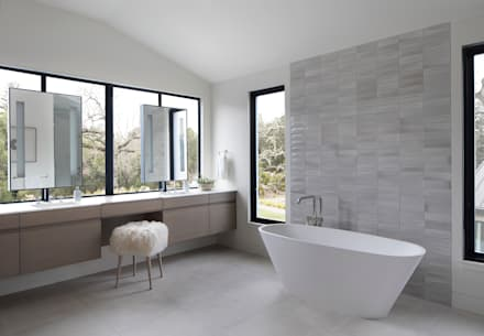 Woodpecker Ranch: modern Bathroom by Feldman Architecture