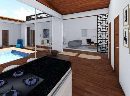 Armarios de cocinas de estilo  por realizearquiteturaS