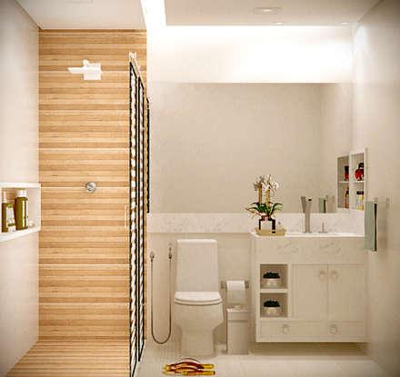 Banho Suíte: Banheiros modernos por SCK Arquitetos