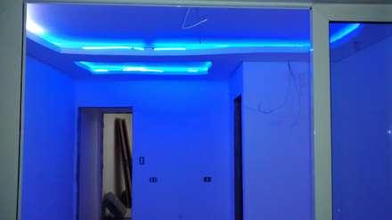 Decoração interno com leds: Quartos  por Flp Eletricista