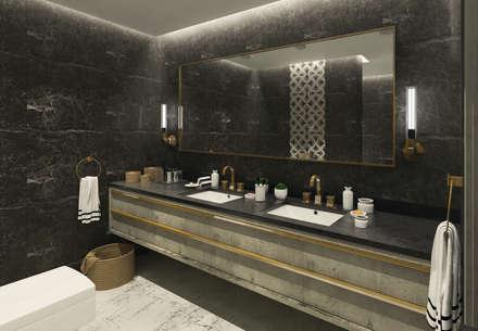 50GR Mimarlık – Beylikdüzü_daire tasarımı: modern tarz Banyo