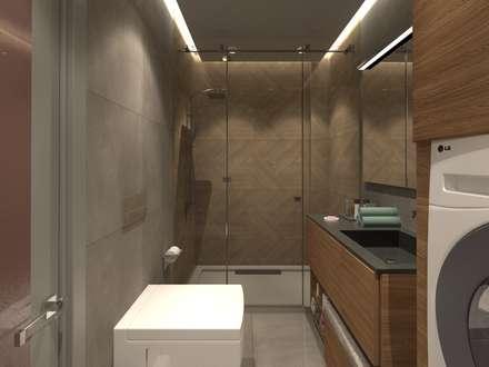 50GR Mimarlık – adapazarı_konut projesi: modern tarz Banyo