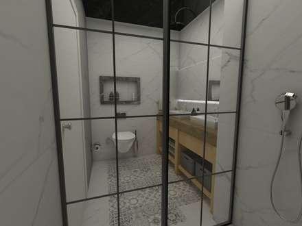 50GR Mimarlık – Beşiktaş_daire tasarımı: modern tarz Banyo