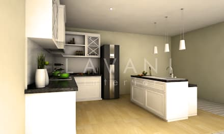 Classic Style Pantry and Mini Bar:  Dapur built in by Lavani Interior