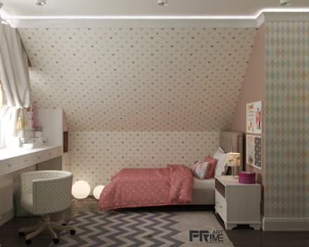 Дизайн мансарды: Детские спальни в . Автор – 'PRimeART'