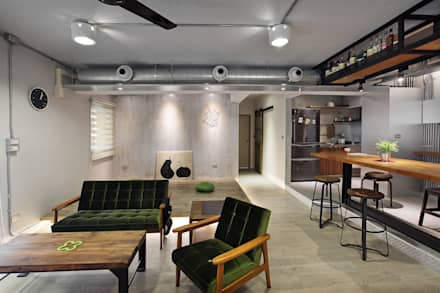 industrial Living room by 森畊空間設計