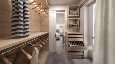 cabina armadio: Camera da letto in stile in stile Classico di studiosagitair