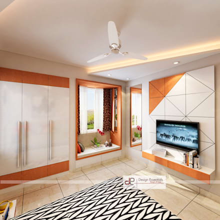 DDA flat at Vasant Kunj: minimalistic Bedroom by Design Essentials