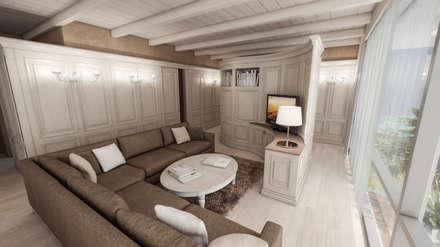 divano ad angolo: Soggiorno in stile in stile Coloniale di studiosagitair