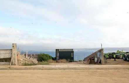 Acoplado Vagón Cartagena: Casas de madera de estilo  por Crescente Böhme Arquitectos