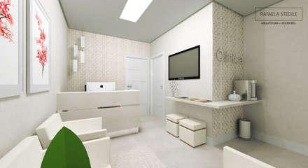 Clínicas / Consultorios Médicos de estilo  por Rafaela Stedile Arquitetura + Interiores