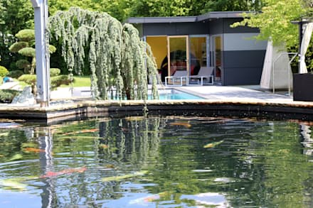 Estanques de jardín de estilo  por RAUCH Gaten- und Landschaftsbau GbR